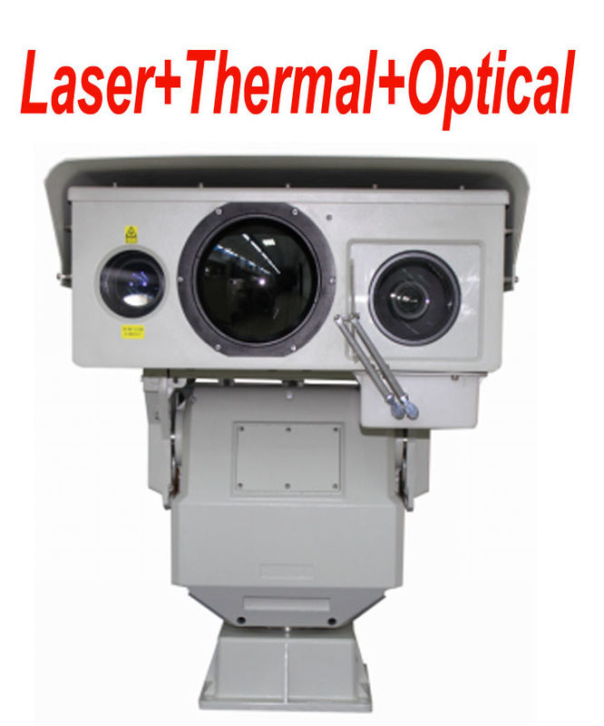 50mK Multi Sensor Long Range Infrared Thermal Camera with PTZ Continuous Zoom Lens